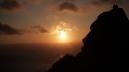 Le Cap Fisterra, la fin de la terre. Le soleil qui a accompagné le pèlerin se couche...fin de ce voyage...