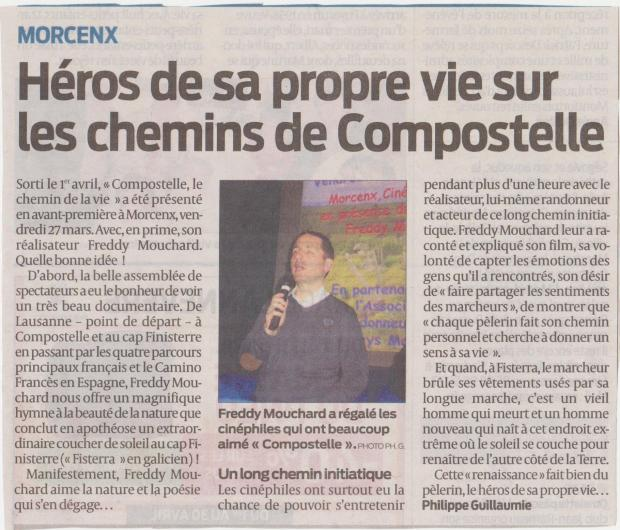 Journal Sud Ouest, Morcenx, 27 mars 2015
